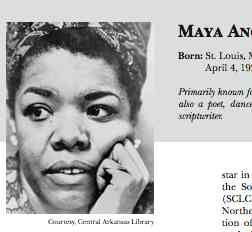 Ms. Angelou as a young writer University of Arkansas Libraries