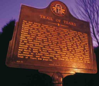 Trail of Tears sign Georgia Bar Journal cover